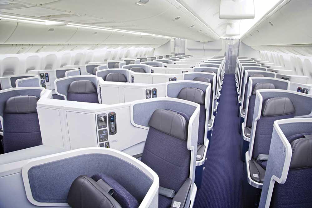アメリカン航空ビジネスクラス