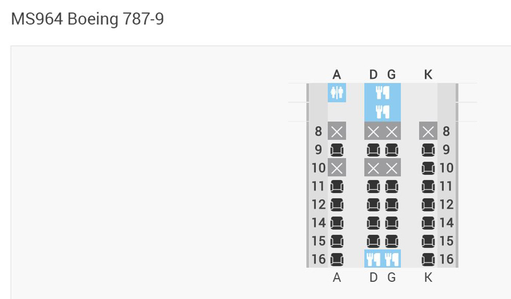 MS B787-9 Seatmap