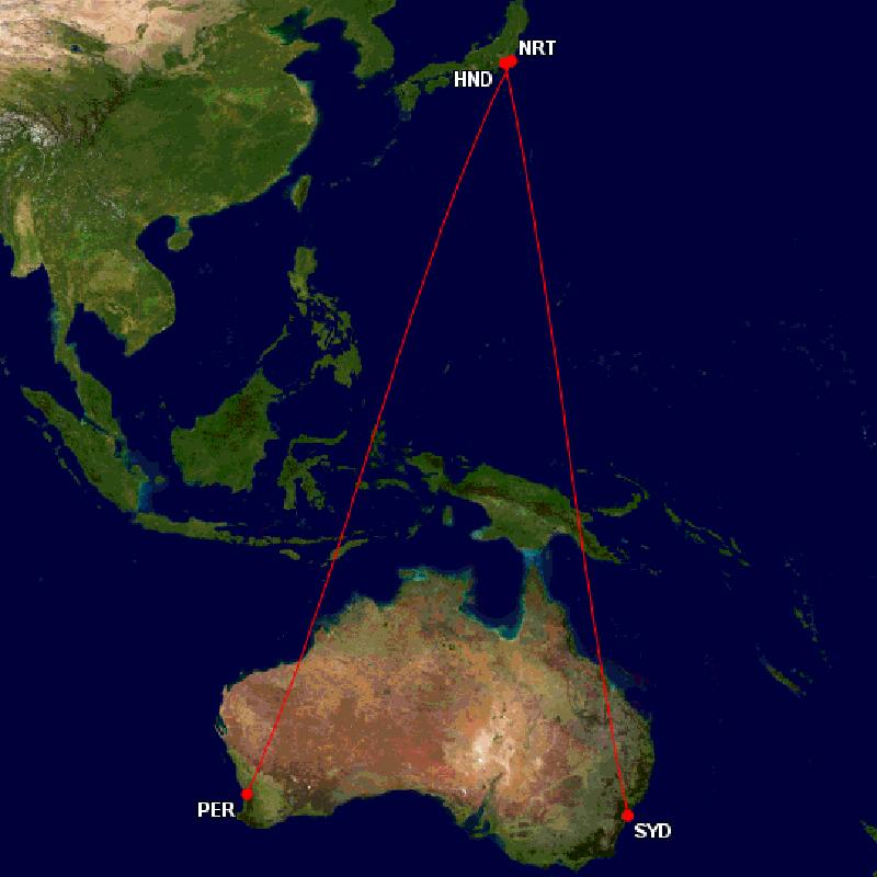 ANAオーストラリアルート