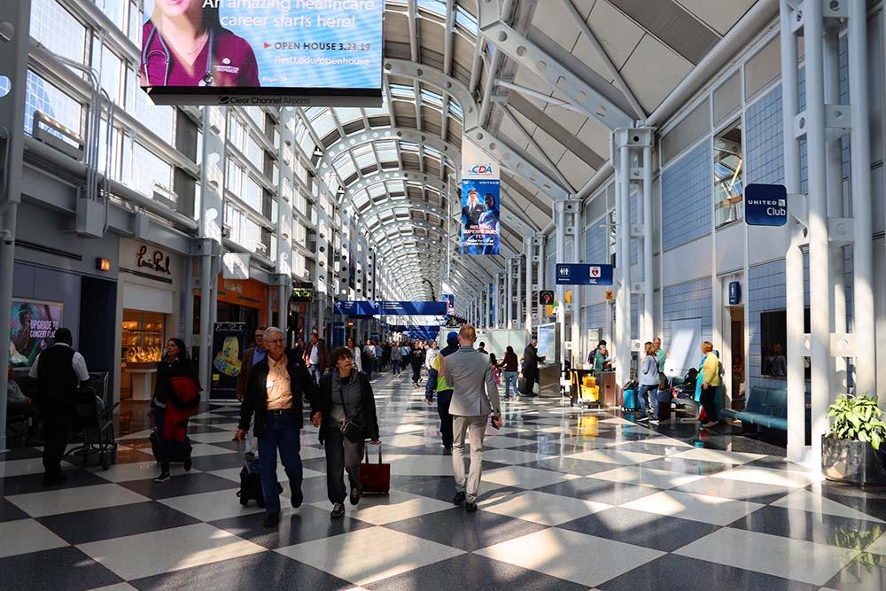 シカゴオヘア空港ターミナル1コンコースB