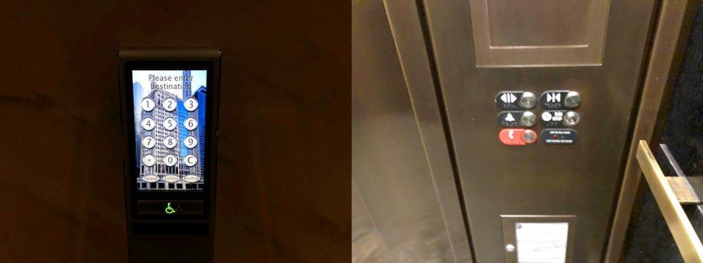 ロンドンハウスシカゴ エレベーター