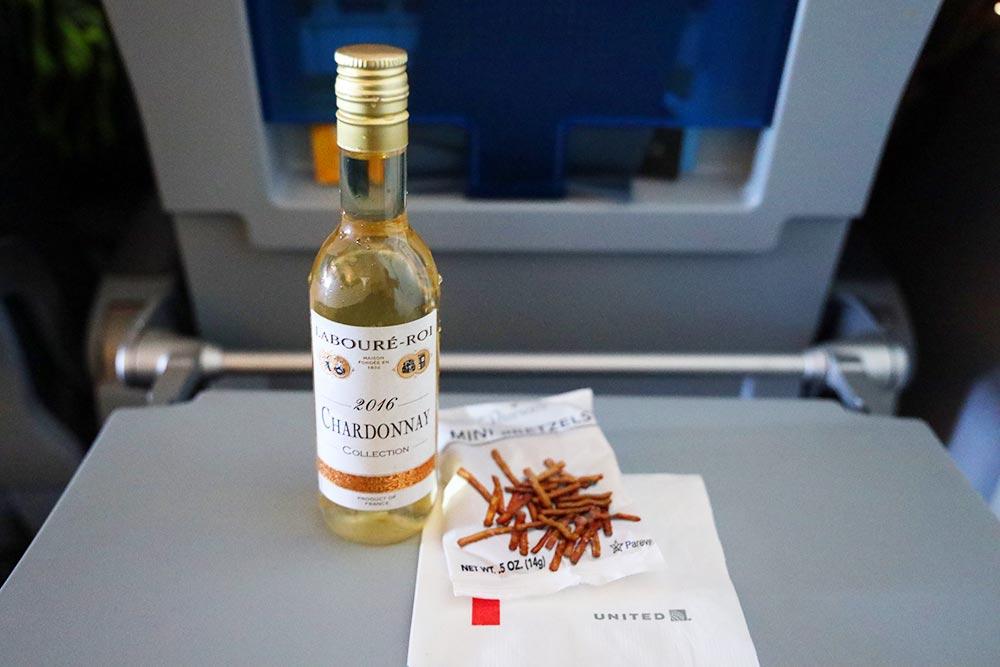 ユナイテッド航空国内線ワイン
