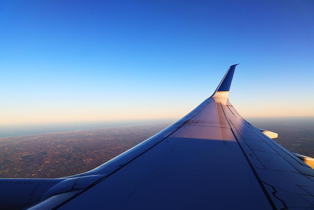 ユナイテッド航空国内線フライト