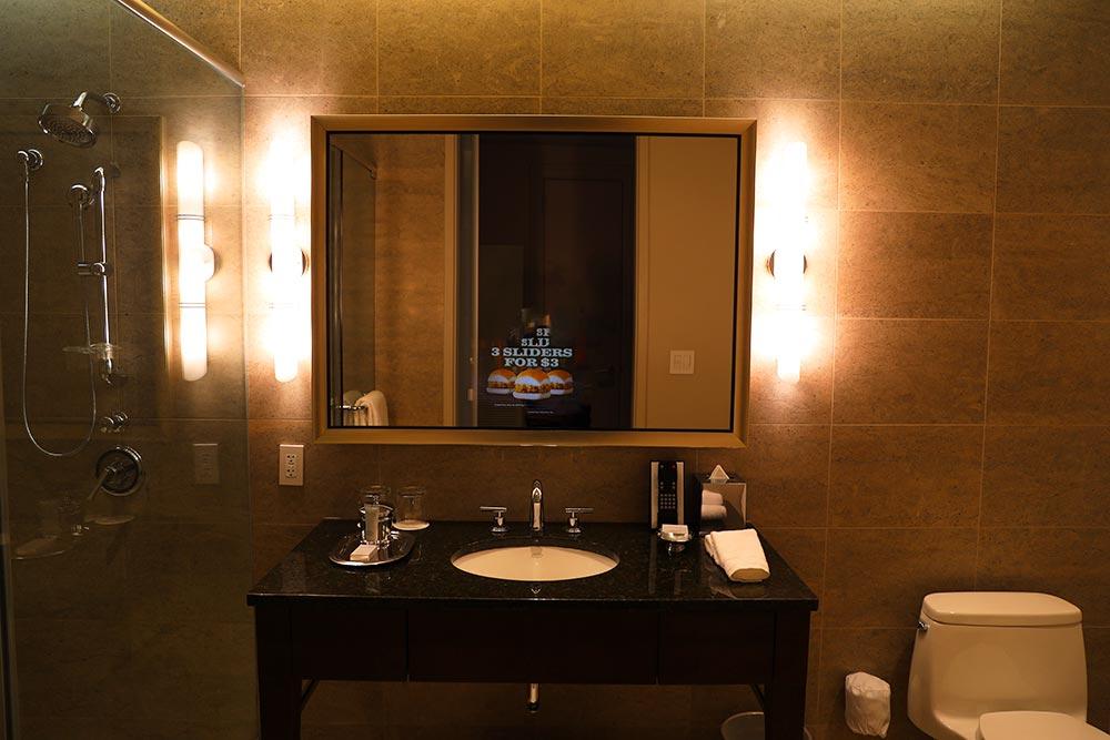 トランプタワーホテル シカゴ バスルーム