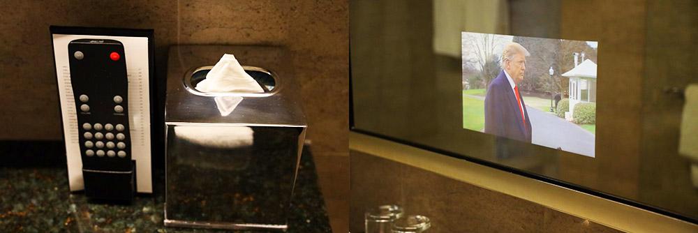 トランプタワーホテル シカゴ ミラーテレビ