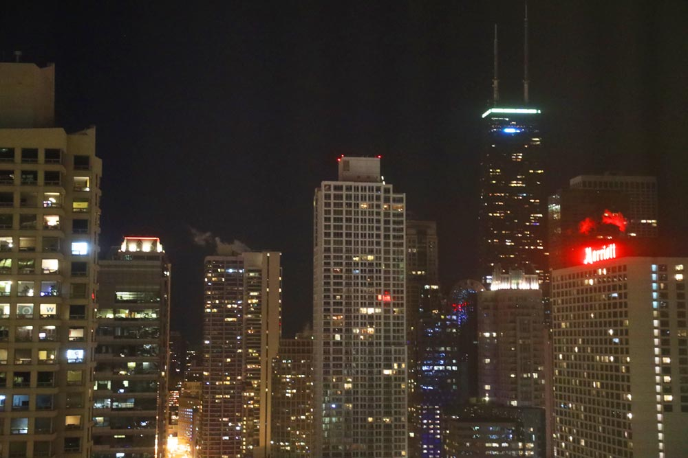 トランプタワーホテル シカゴ 夜景