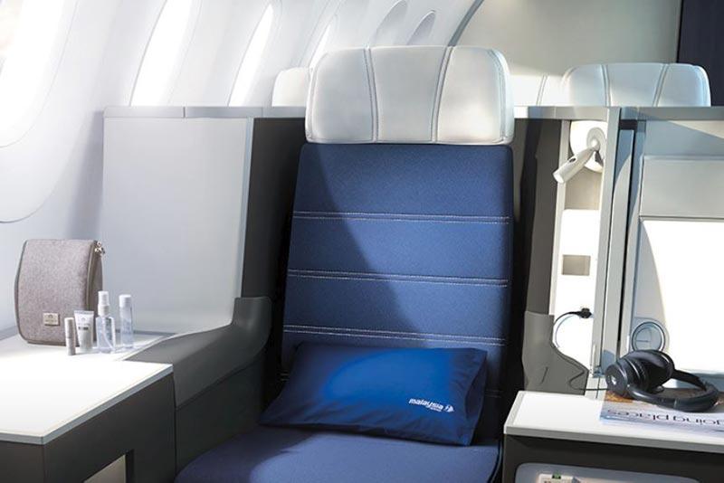マレーシア航空ビジネスクラスA350シート