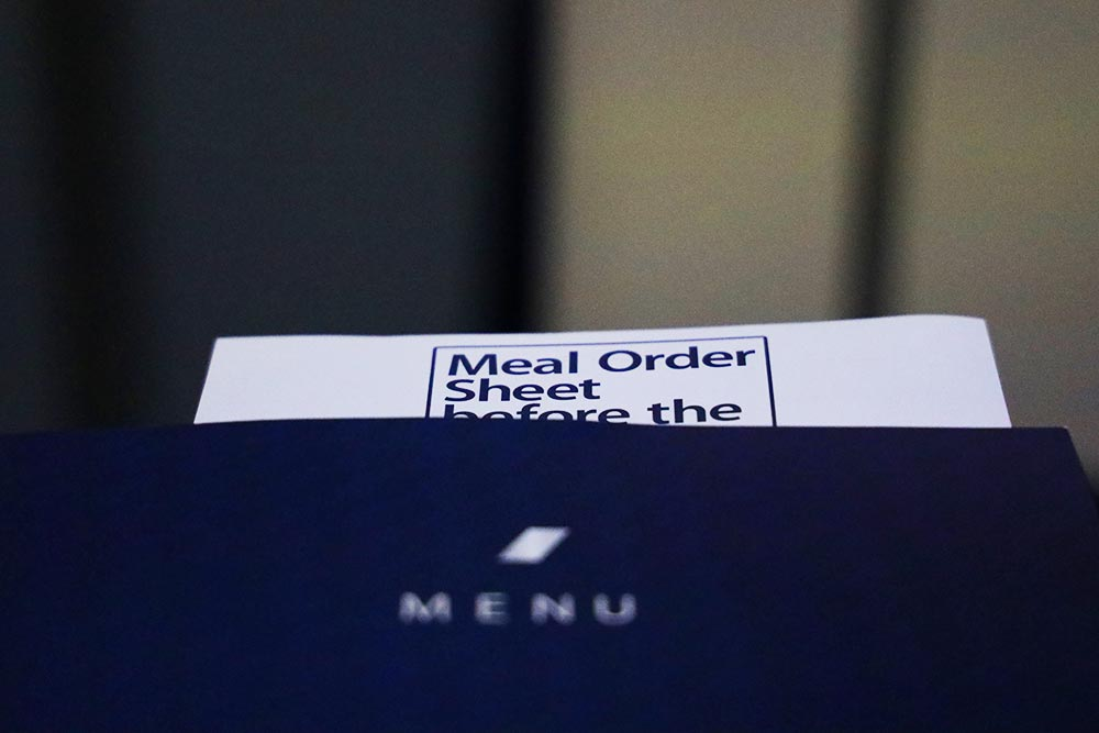 機内食オーダー