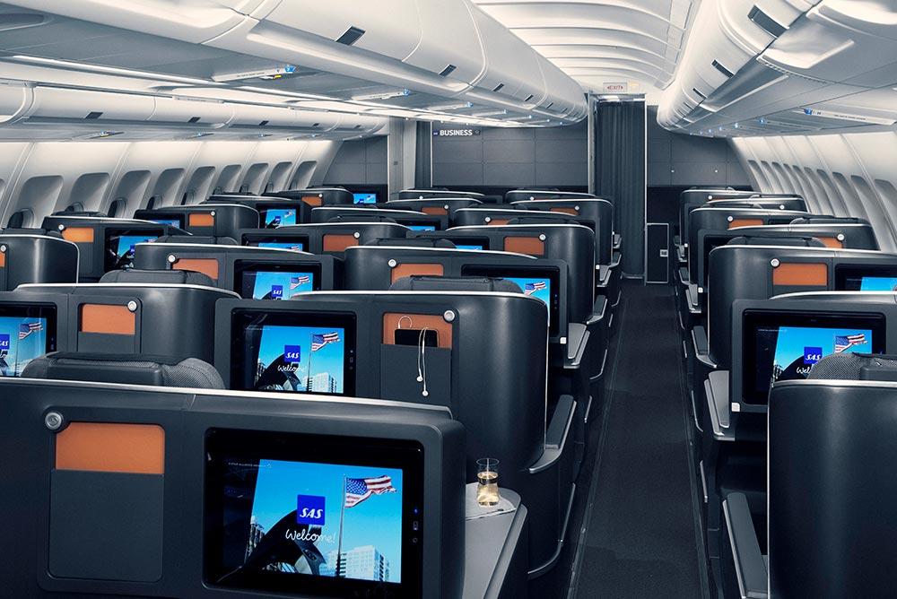 スカンジナビア航空ビジネスクラスシート