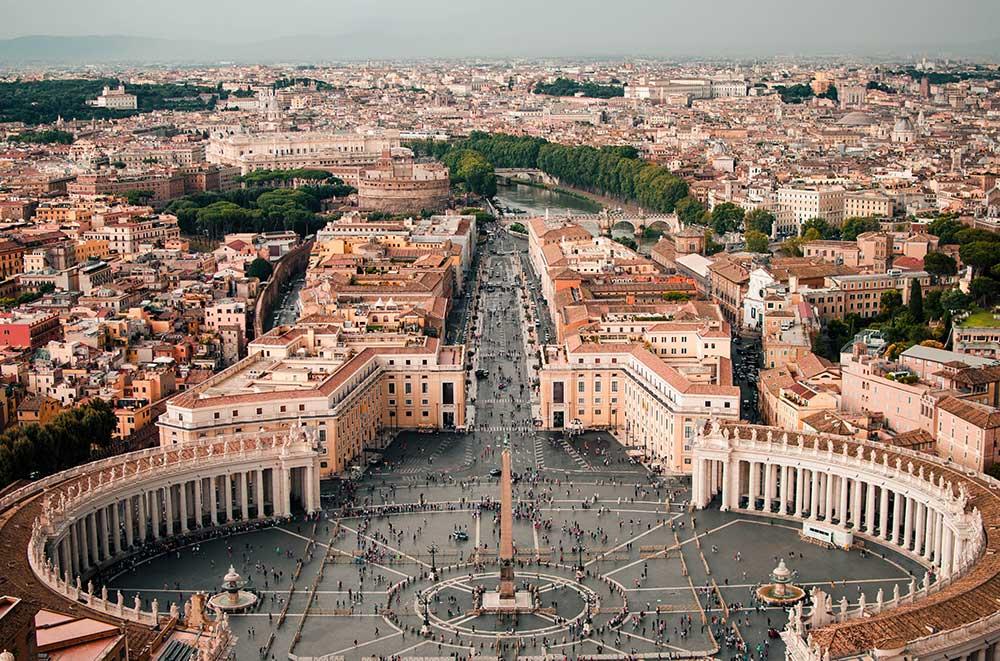 バチカンからのローマ市内