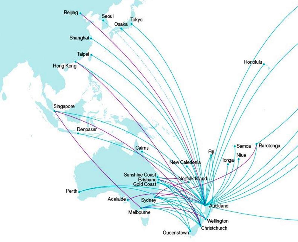 ニュージーランド航空アジア路線