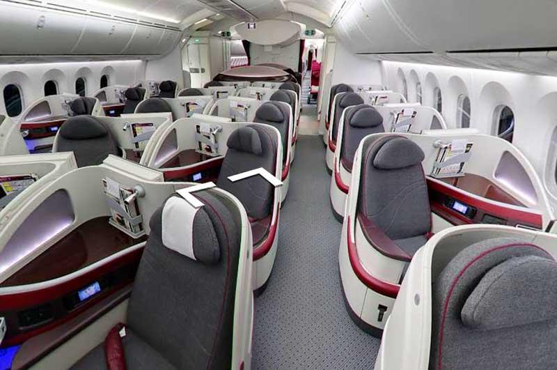 カタール航空B787ビジネスクラス