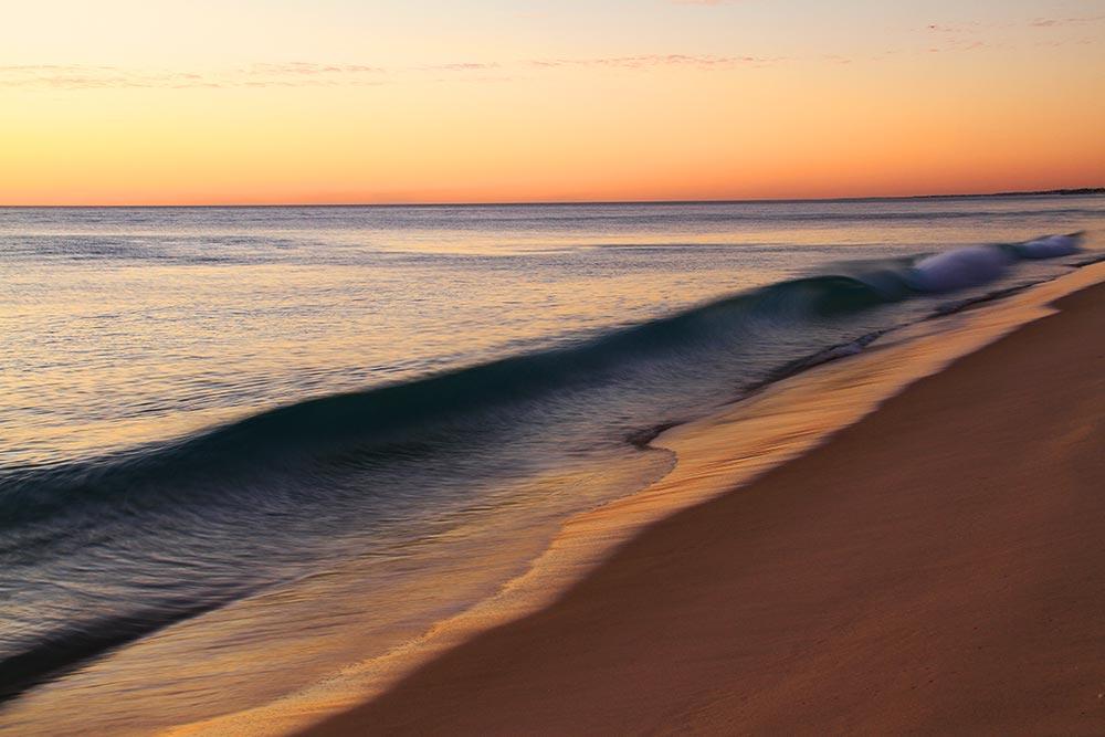パースのビーチはきれいだ