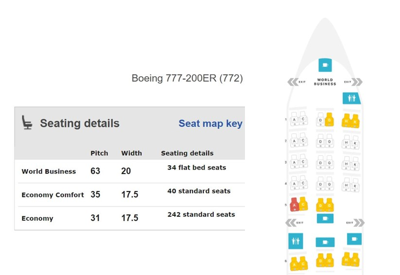 KLM B777-200ER seatmap