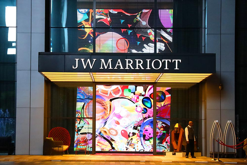 JW Marriott singapore entrance