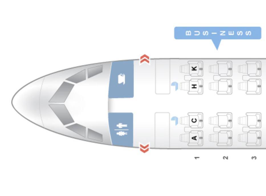 アシアナ航空 A321ビジネスクラスシートマップ