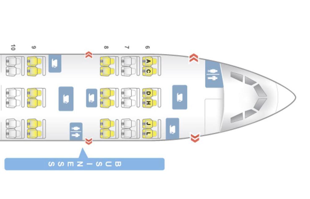 中国国際航空A330Eシートマップ
