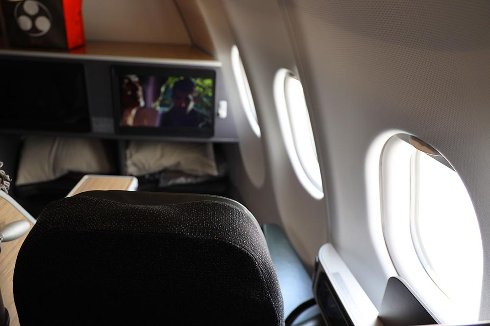 エバー航空ビジネスクラスシート