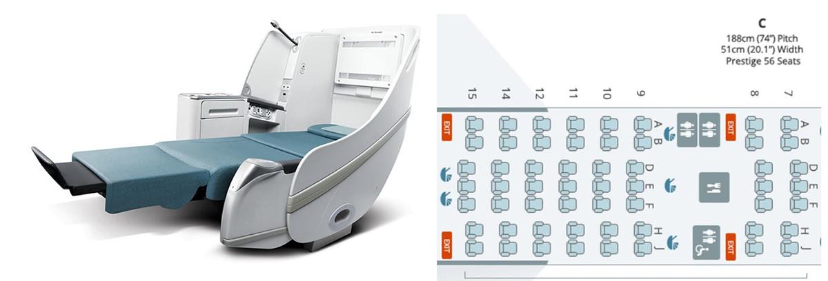大韓航空B77Wビジネスクラス詳細