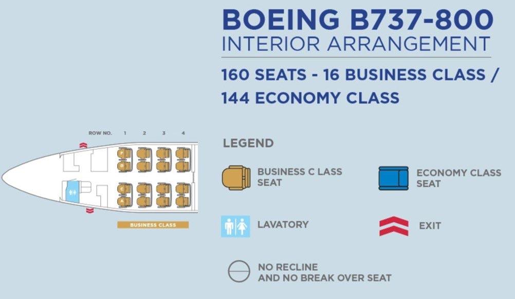 マレーシア航空B737-800シートマップ