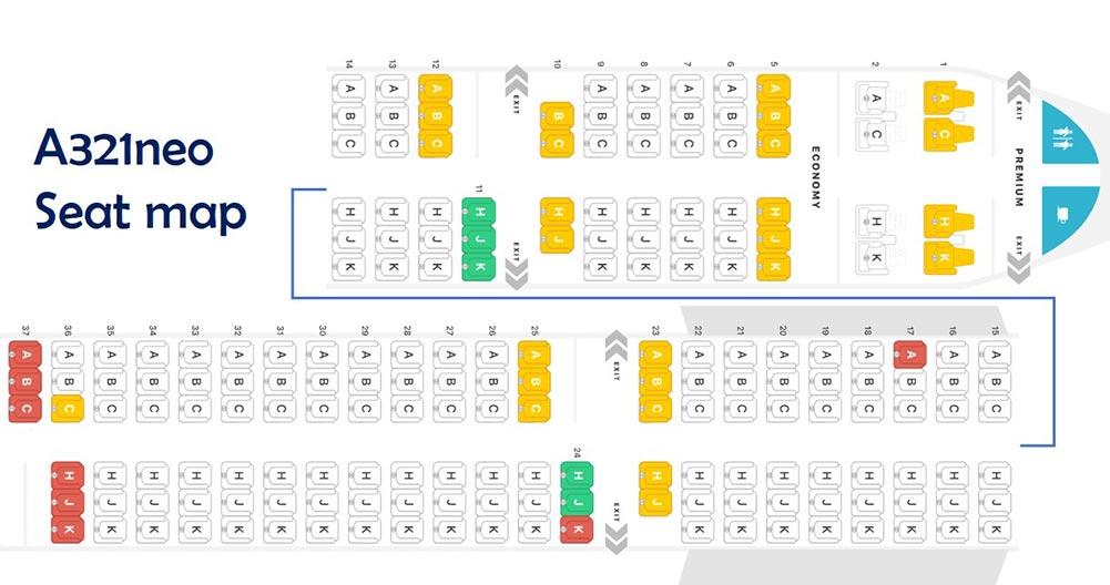 ANA A321neo シートマップ