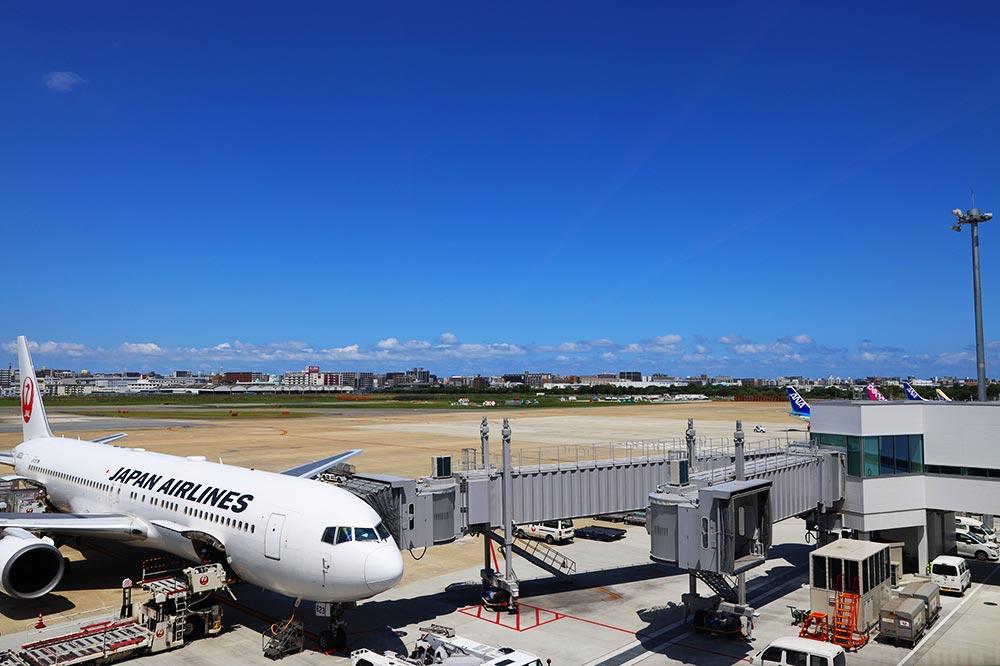 ANAスイートラウンジ福岡 飛行機の景色