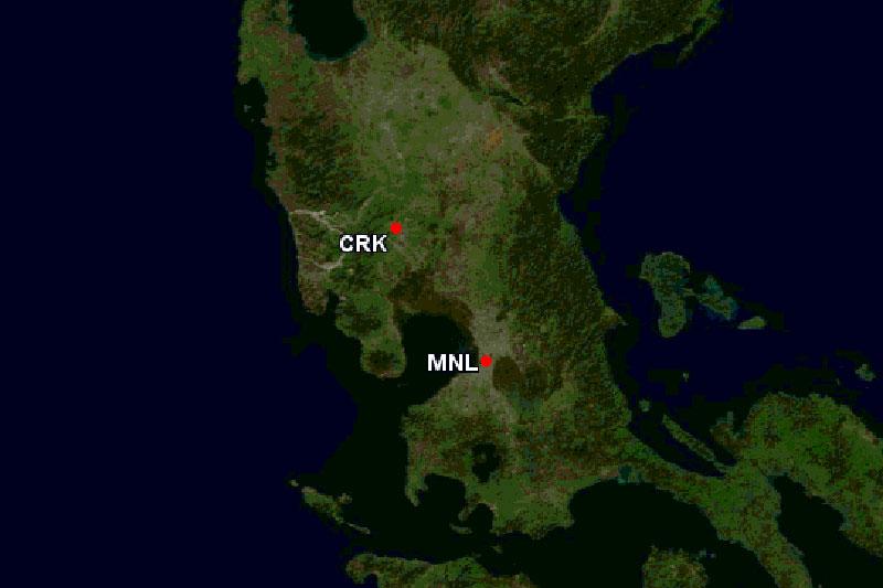 クラーク国際空港位置