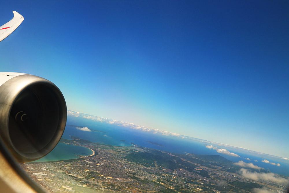 福岡空港離陸