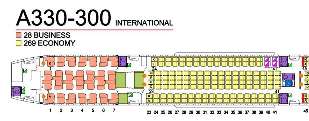 A330シートマップ
