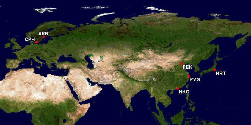 スカンジナビア航空アジアネットワーク