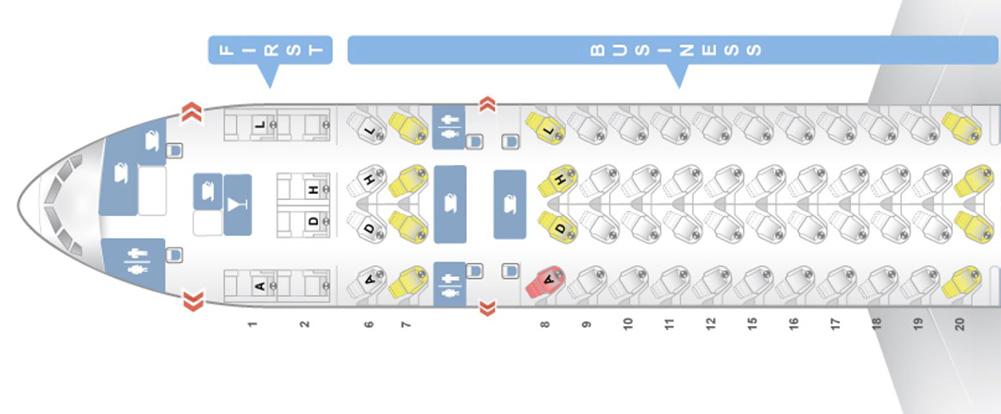中国東方航空 77W シートマップ