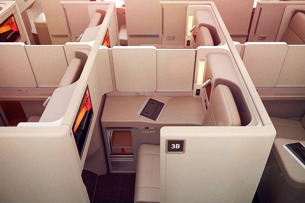 中国東方航空B787ビジネスクラス