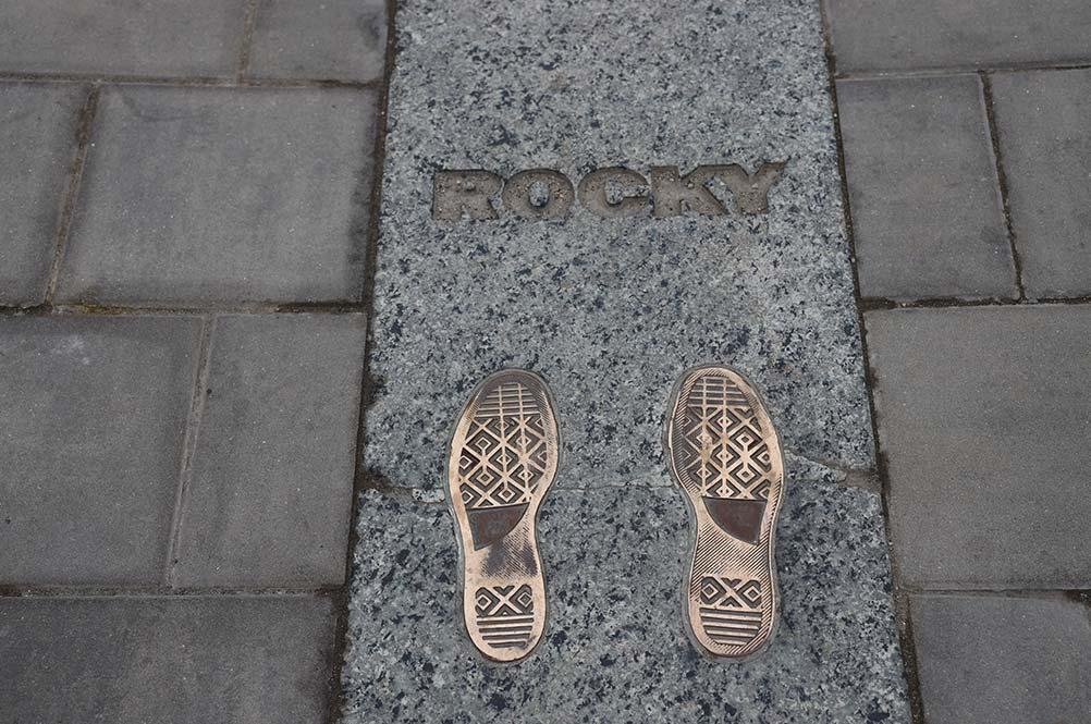 ロッキーの足跡