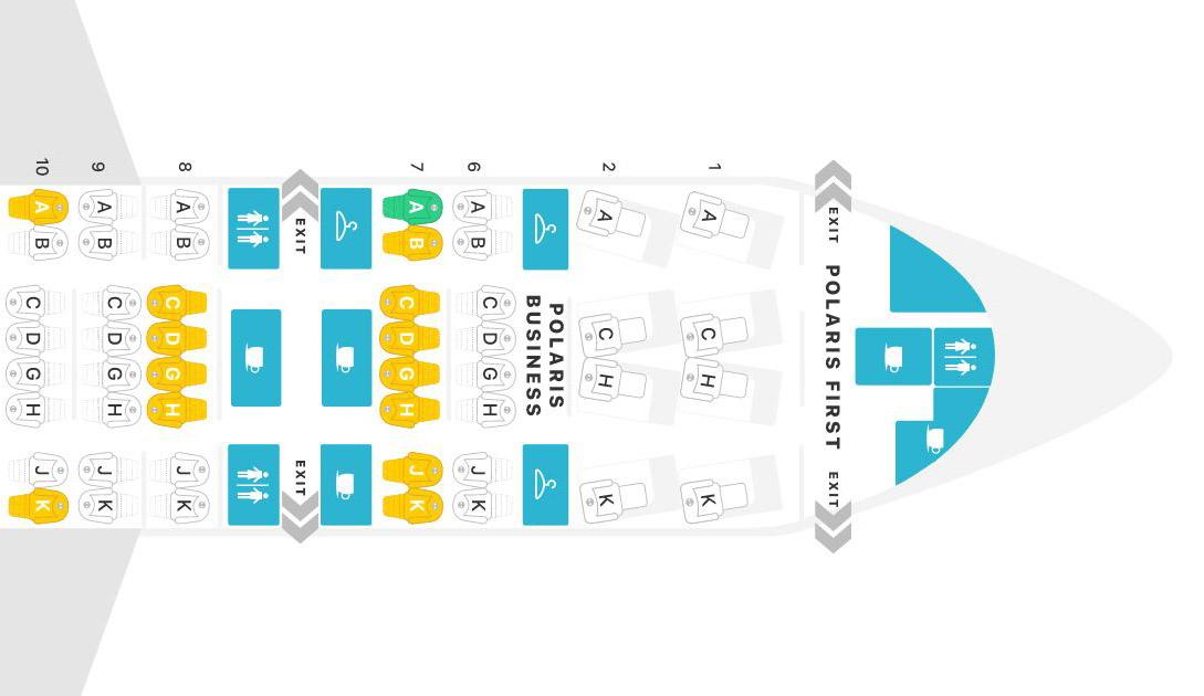 ユナイテッド航空シートマップ