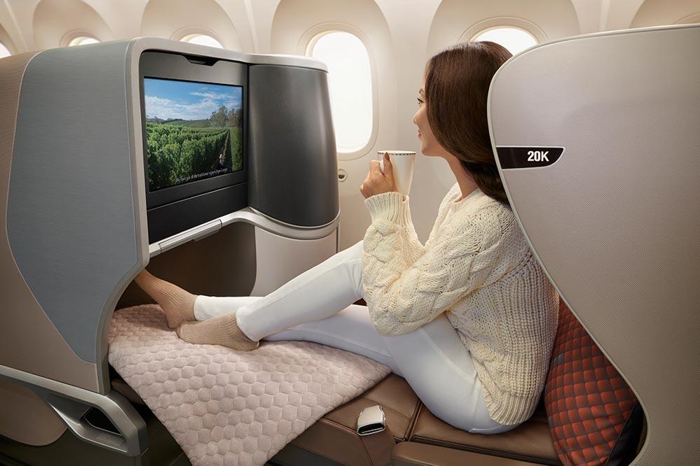 シンガポール航空B787-10ビジネスクラス