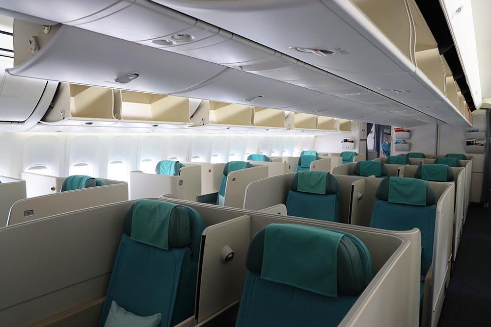 大韓航空B747-8 ビジネスクラス1階席