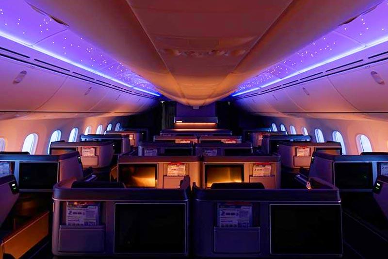 エバー航空ボーイング787-10ビジネスクラス