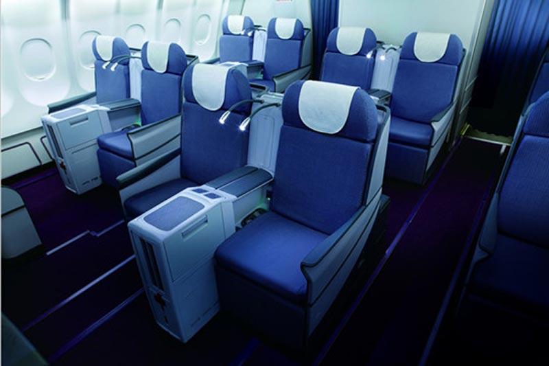 中国南方航空ビジネスクラスシート