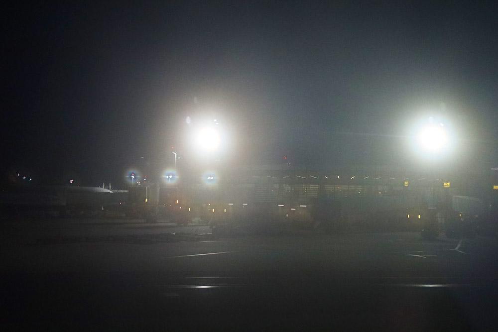 朝のウィーン空港