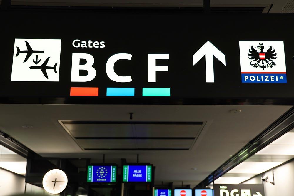 ウィーン空港パスポートコントロール