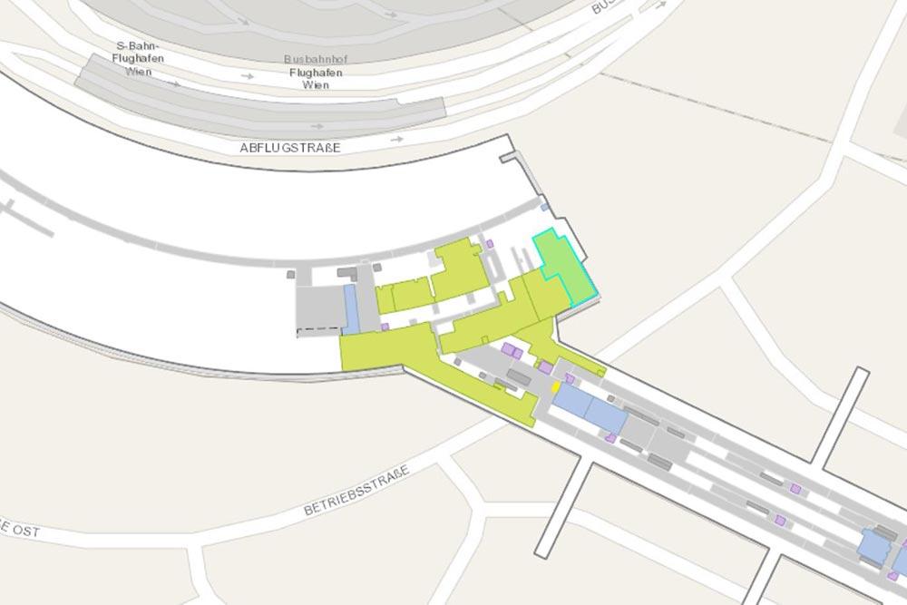 ウィーン国際空港ラウンジ地図