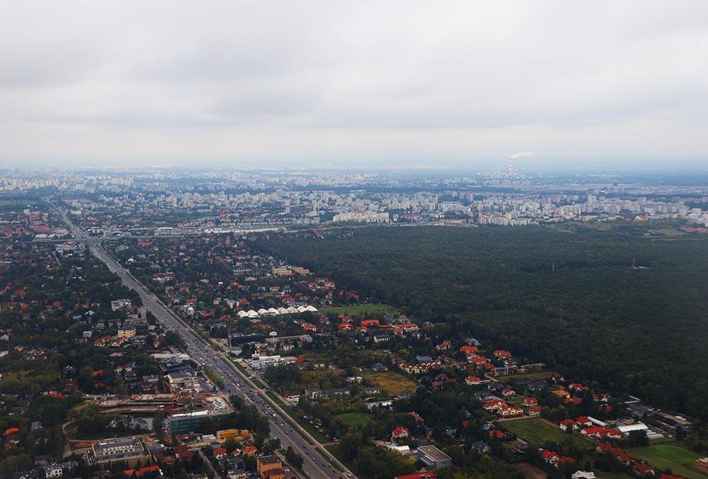 ワルシャワ上空