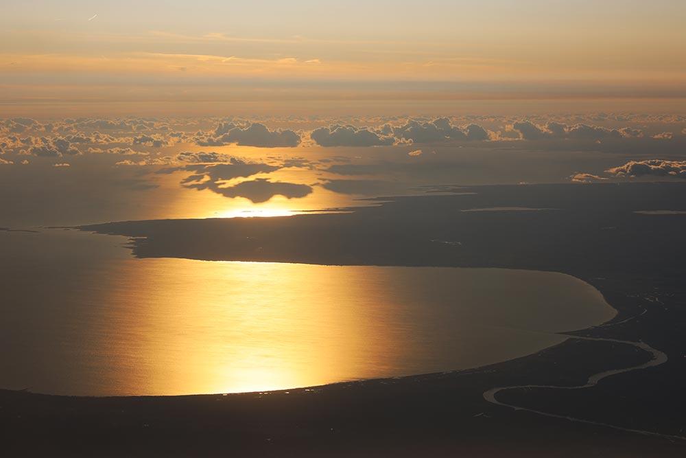 黄昏のリガ湾