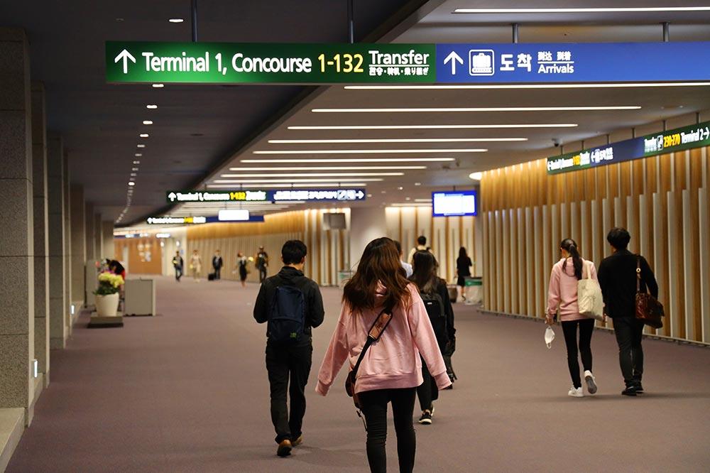 ターミナル2到着フロア