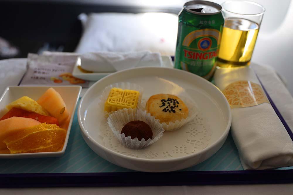 上海ソウル線機内食