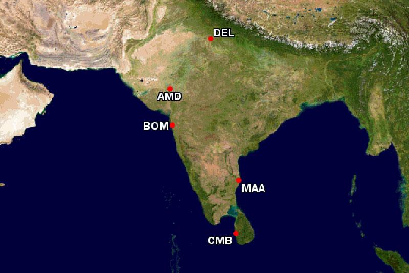 インド主要都市