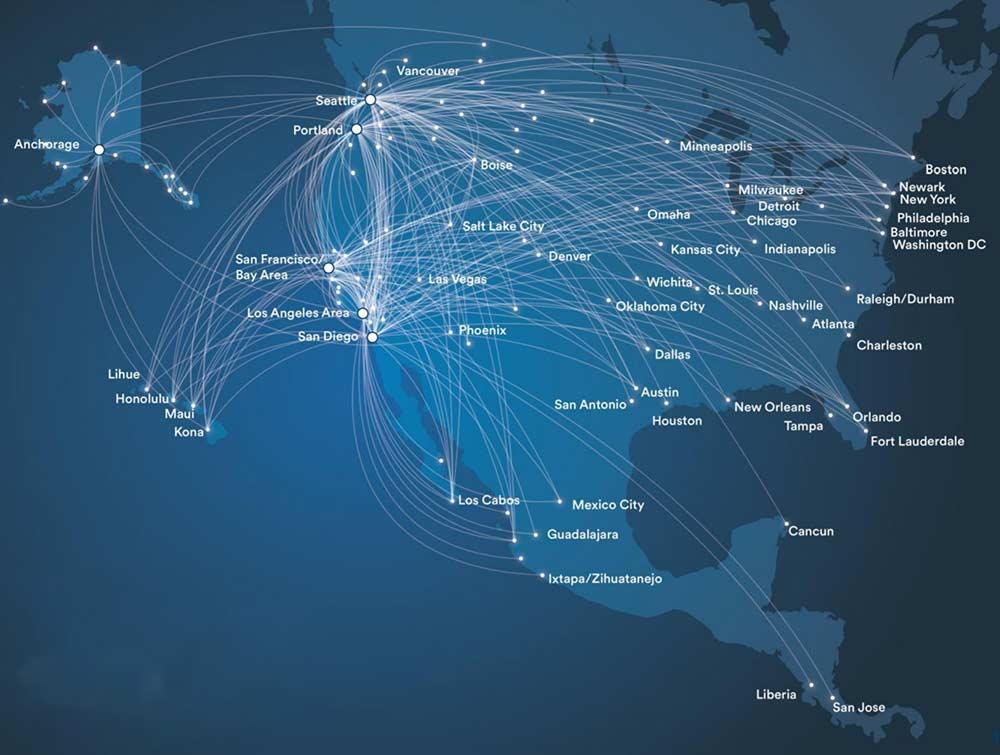 アラスカ航空ネットワーク