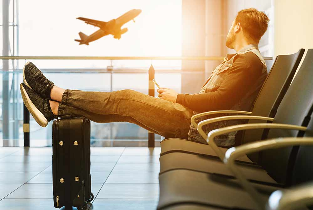 飛行機が待ち遠しい