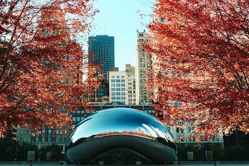 秋のシカゴ