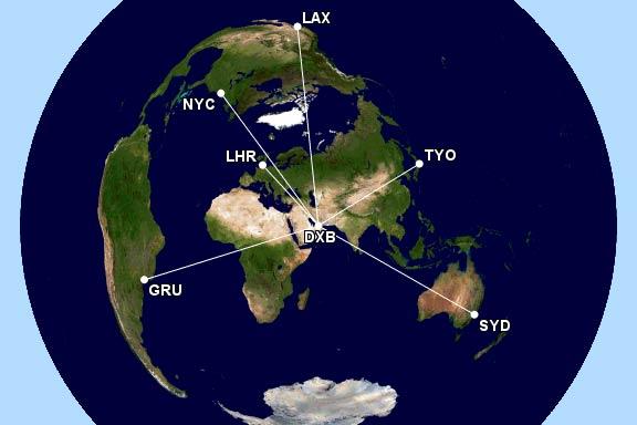 ドバイ中心地図